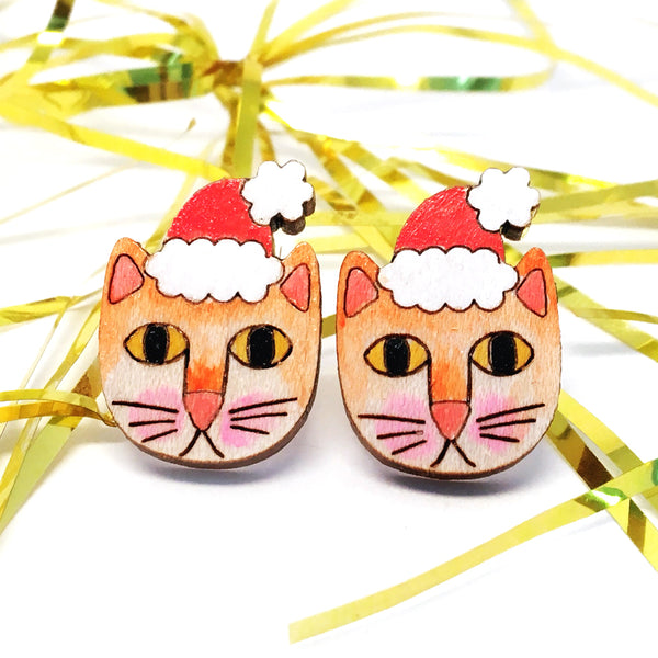 Santa Paws Stud Earring · Orange