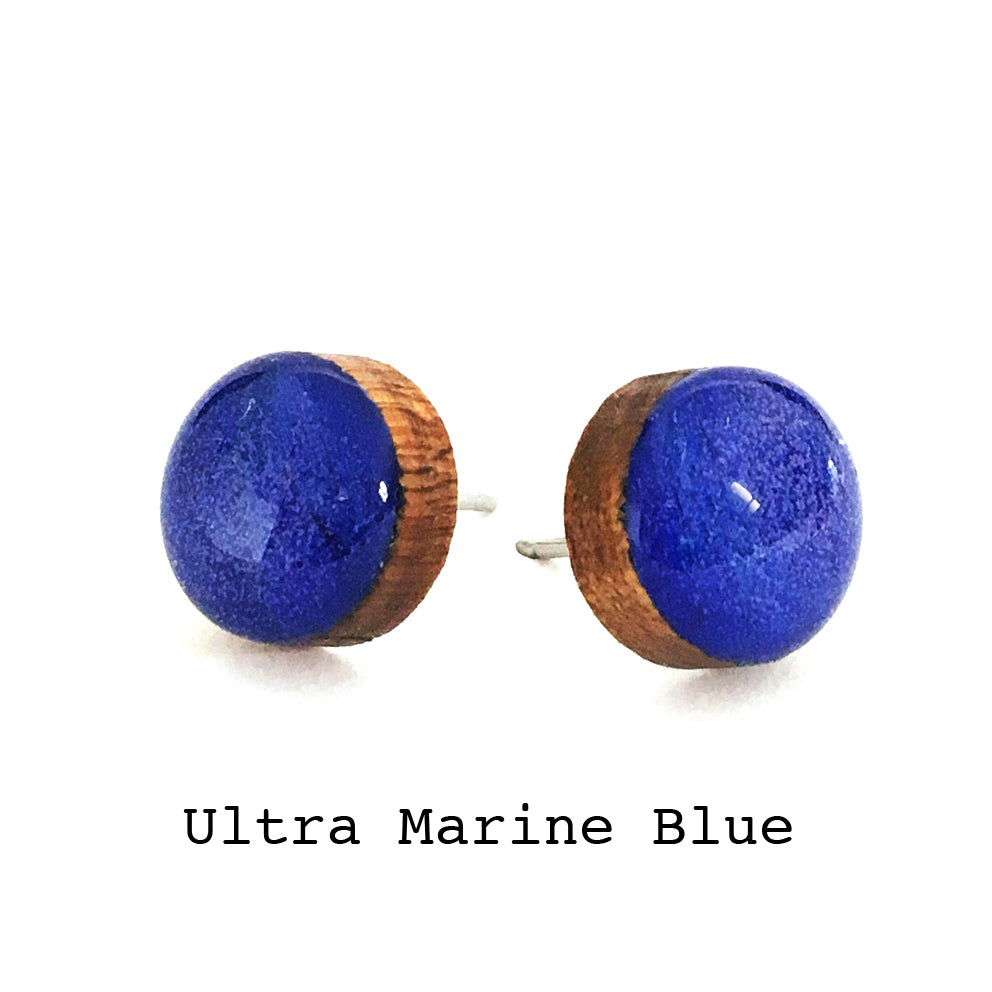 Dot Earrings · Ultra Marine Blue