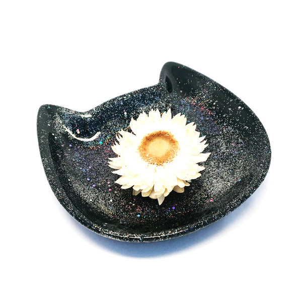 Cat Trinket Bowl · Black
