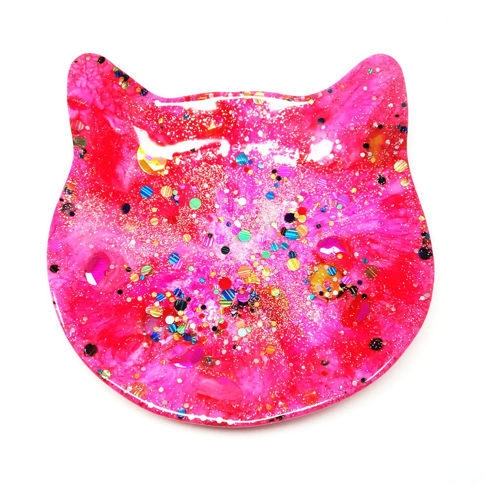 Crazy Cat Lady Trinket Dish · Hot Pink