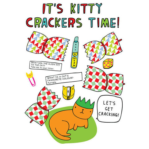 Christmas Card · Kitty Crackers Time!