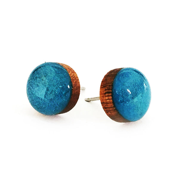 Dot Earrings · Cobalt Blue