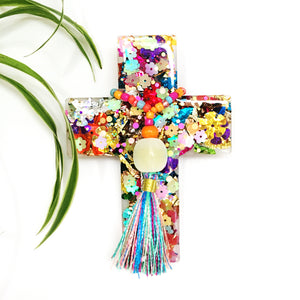 Resin Decorative Cross · Tassel · Carnival