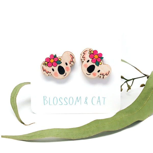 Koala Stud Earrings · Choose your colour