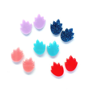 Falling Leaves Studs · Choose your Colour