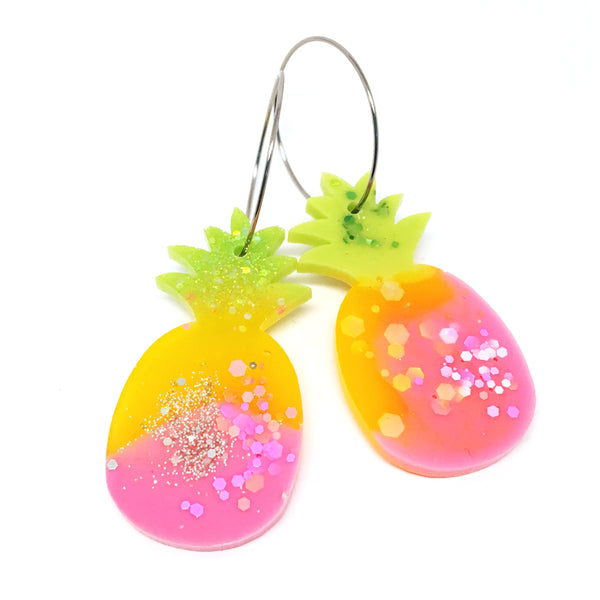 Pineapple Hoops · Pink & Yellow