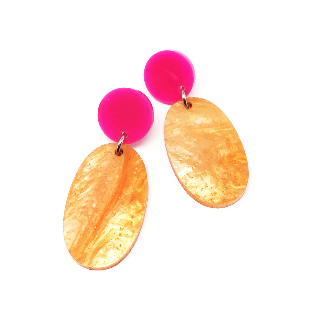 Pop Drop Dangles · Orange