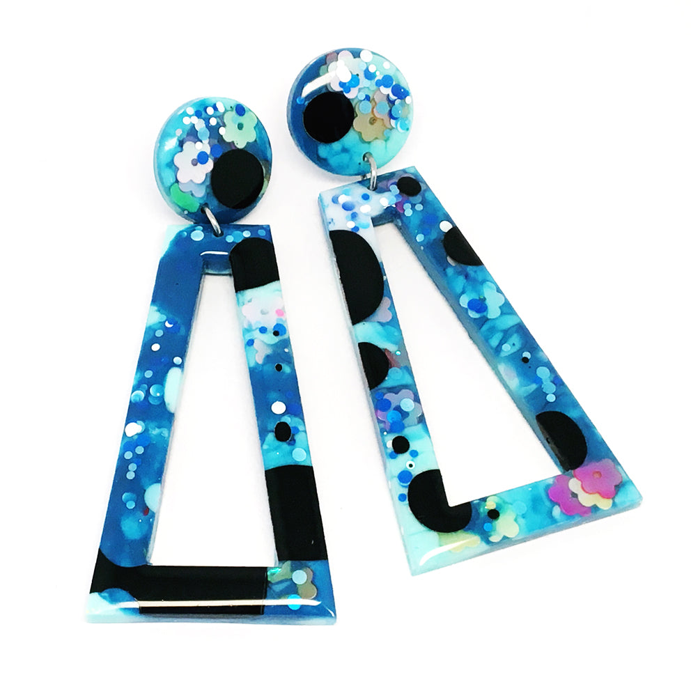 Resin Dangle · 'Richochet' · Blue