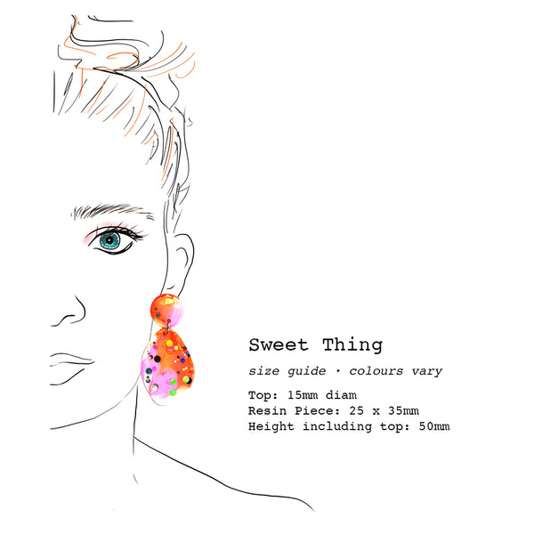 Resin · Sweet Thing Earring · Bright Apricot