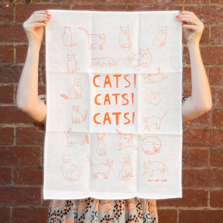 Tea Towel · Cats! Cats! Cats!
