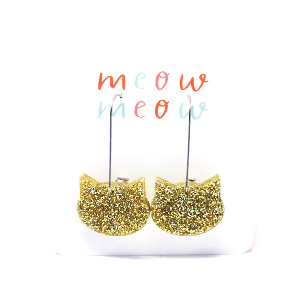 Cat on a Wire · Yellow Gold Glitter