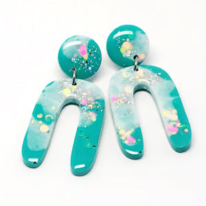 Resin Dangle · Jeanie · Teal