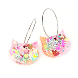 Resin Cat Hoop · Pinky Apricot · 5