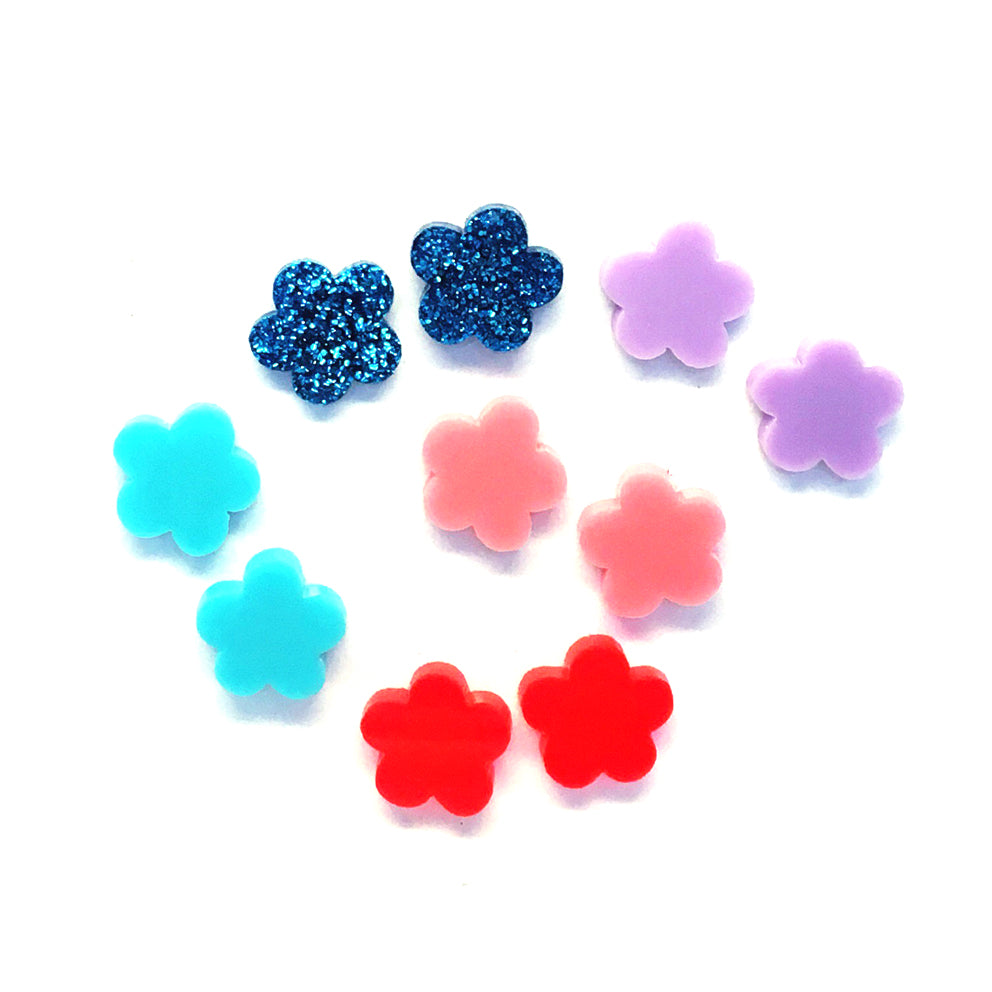 Pretty Flower Studs · Choose your Colour