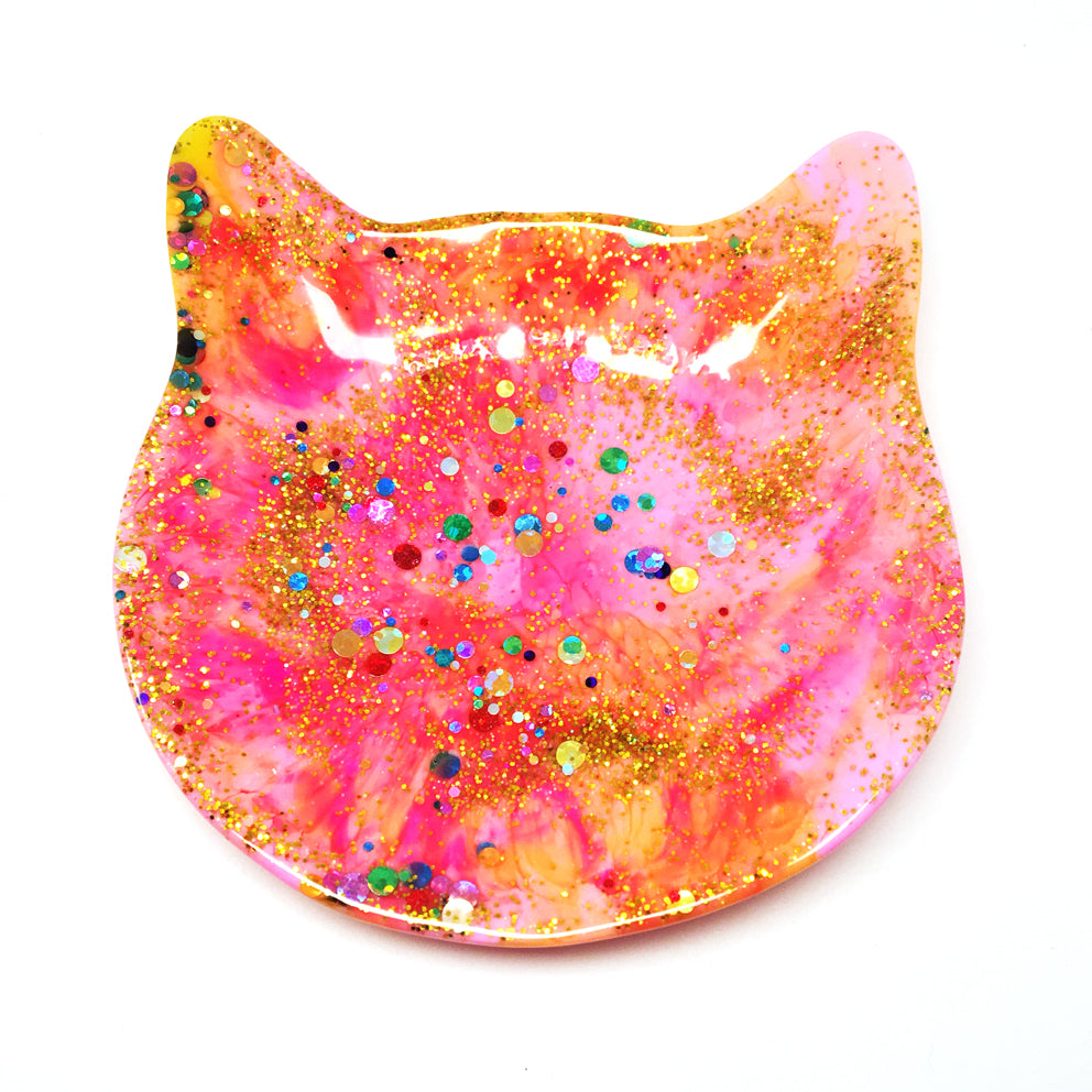Crazy Cat Lady Trinket Dish · Apricot Pink