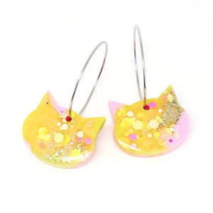 Resin Cat Hoop · Pinky Yellow · 6