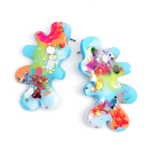 Resin · Coral Stud · Blue Multi · 6