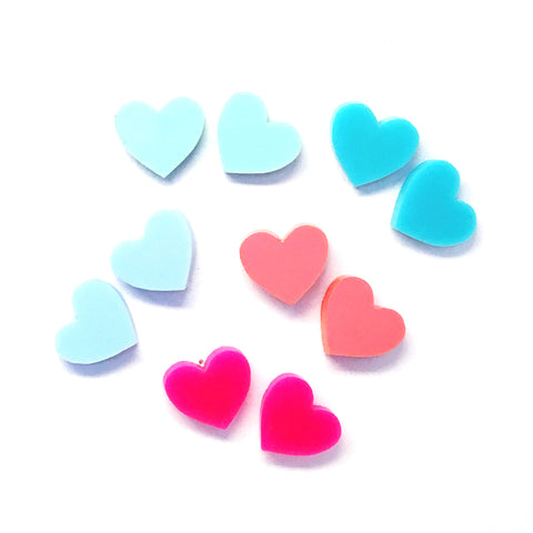 'I heart you' Stud · Choose your Colour