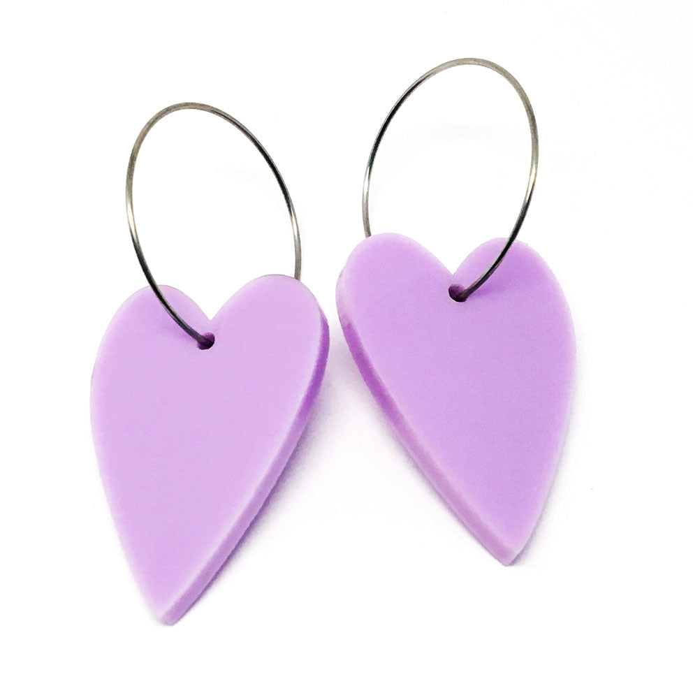 'i heart you' Hoop · Lilac
