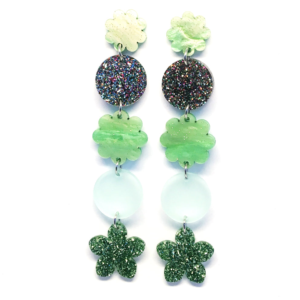 Long Flower Dangle · Green
