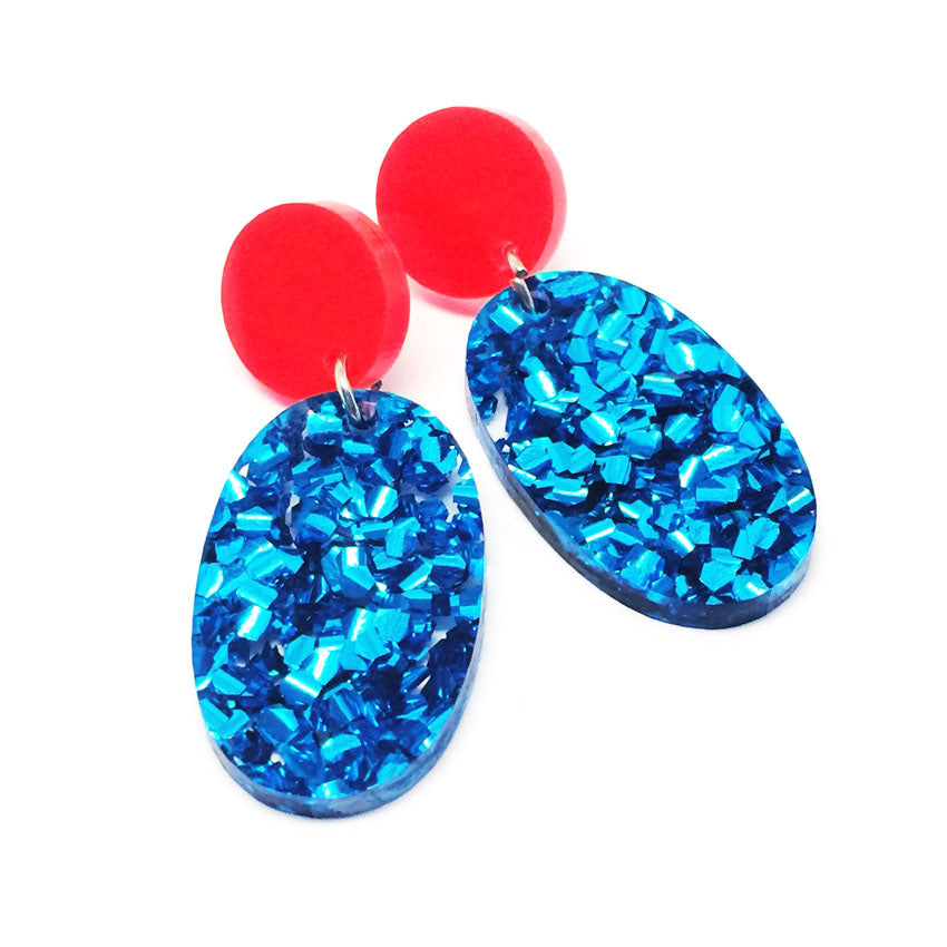 Pop Drop Dangles · Light Blue