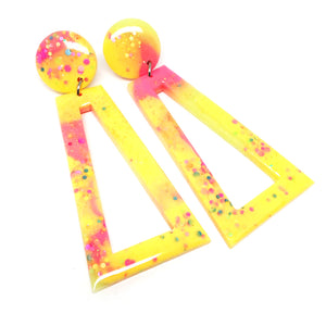 Resin Dangle · 'Richochet' · Yellow