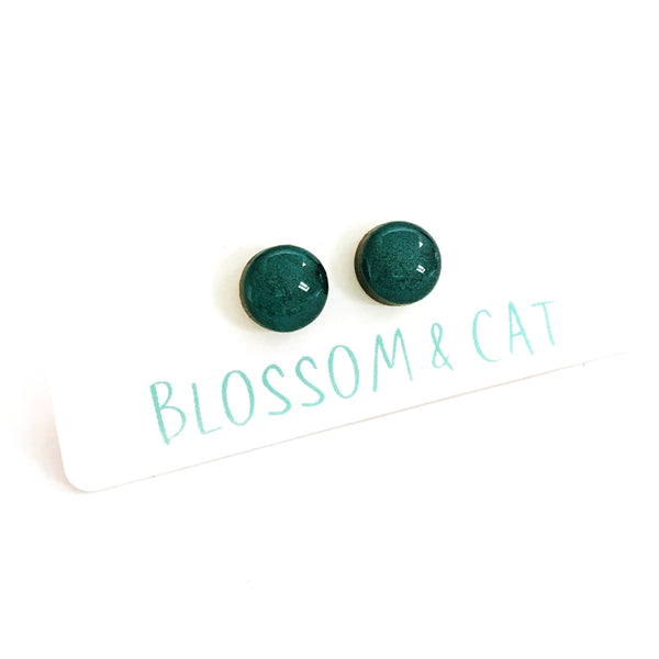 Dot Earrings · Seafoam Green
