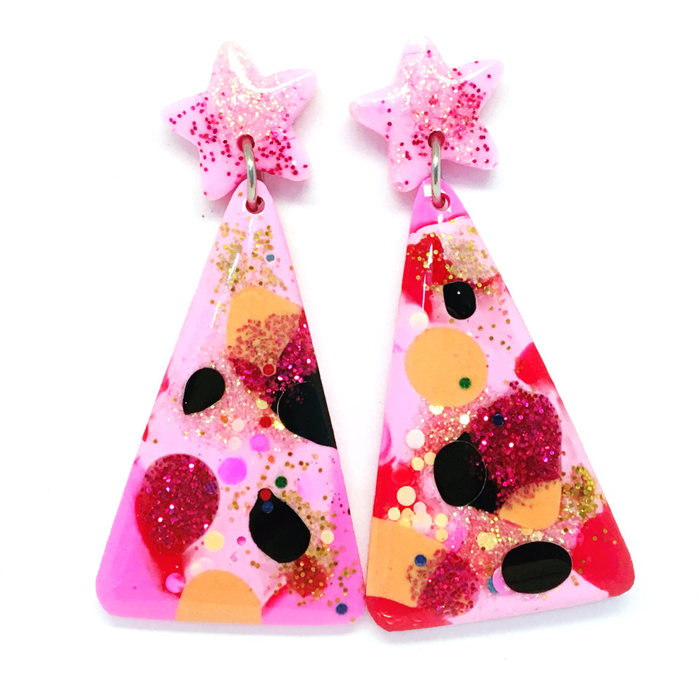 Christmas Tree Earring · Pink Sprinkles