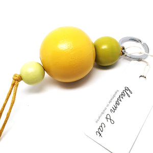 Large Bead Keyring · Yellow