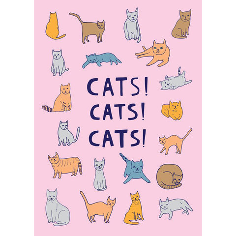 Greeting Card · Cats! Cats! Cats!