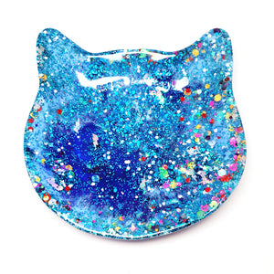 Crazy Cat Lady Trinket Dish · Blue