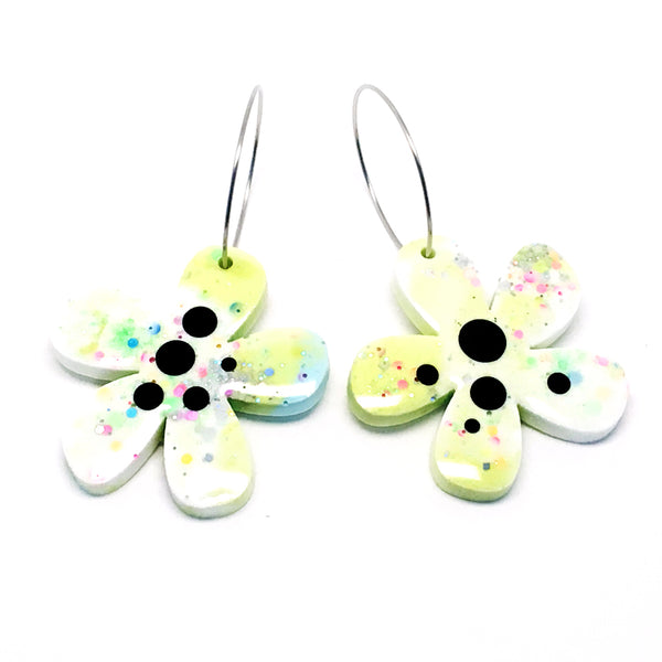 Resin · Flower Hoops · Light Lime