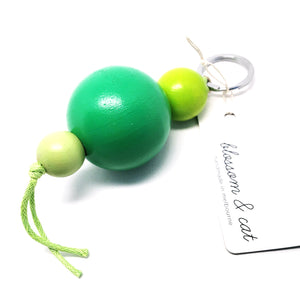Large Bead Keyring · Green