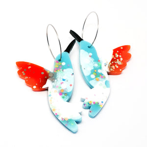 Hummingbird Hoops · Blue White
