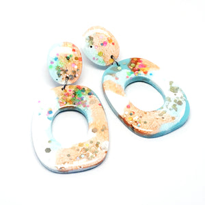 Resin Dangle · 'Lets Dance' · Apricot