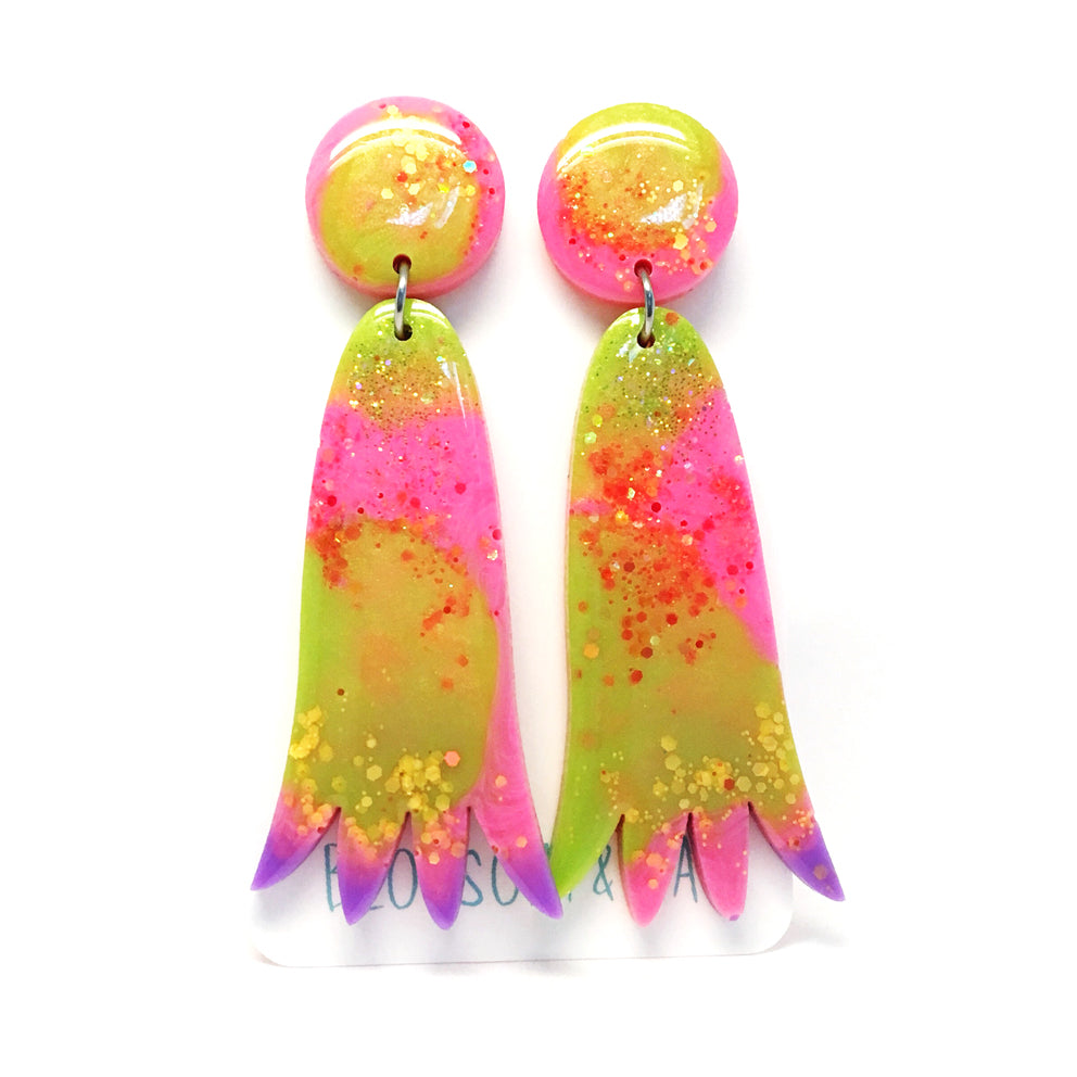 Strange Fruit Dangle · Pink & Lime