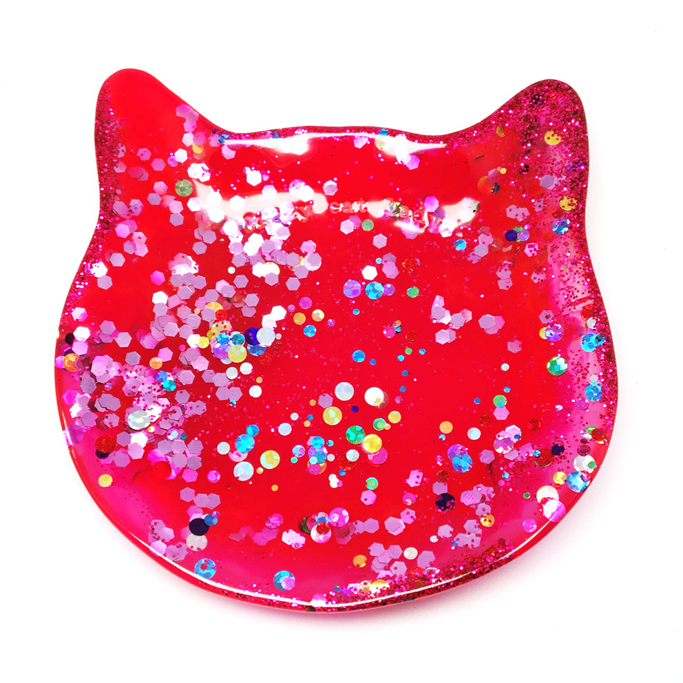 Crazy Cat Lady Trinket Dish · Pinky Red