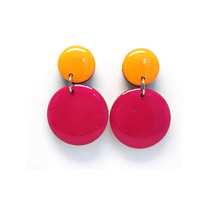 Pebble Dangles · Cerise + Marigold