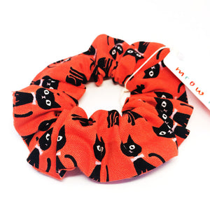 Scrunchie · Red with Black Cats