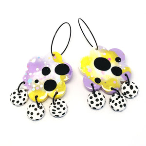 blossom & cat + Plain Jane · Poppy Dangle · Lemon Lilac