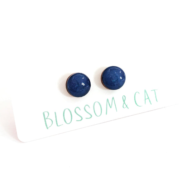 Dot Earrings · Blue Lake
