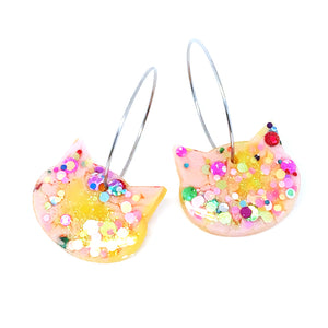 Resin Cat Hoop · Light Pink Lemon · 9