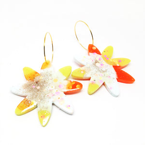 Resin · Bloom Hoops · Orange White
