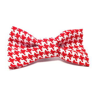 Cat Bow · Houndstooth · Red