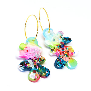 Resin · Mini Coral Hoop · Minty · 8
