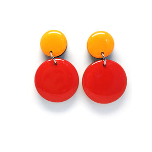 Pebble Dangles · Red + Marigold
