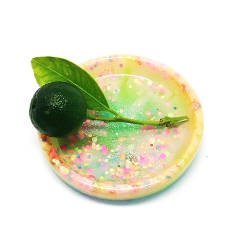Tiny Ring Dish · Lime Yellow