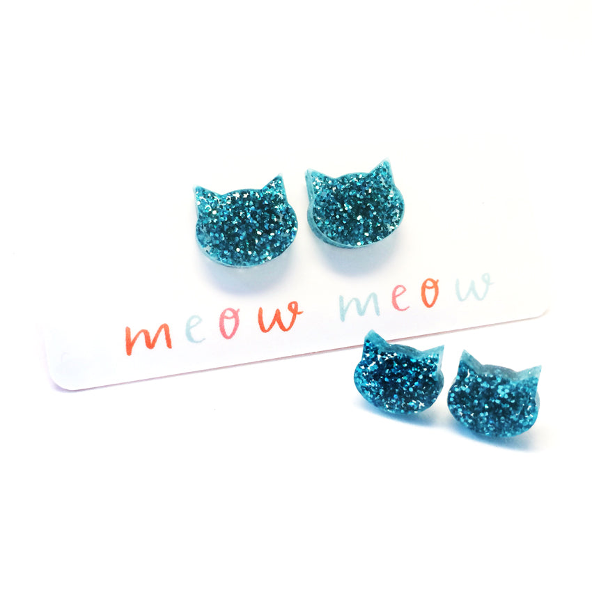 Cat Stud · Turquoise Glitter · Christmas Fundraiser for Cats