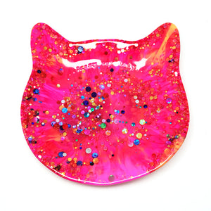 Crazy Cat Lady Trinket Dish · Pinky