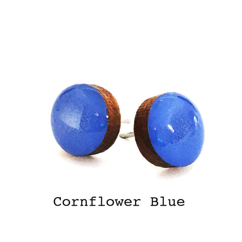 Dot Earrings · Cornflower
